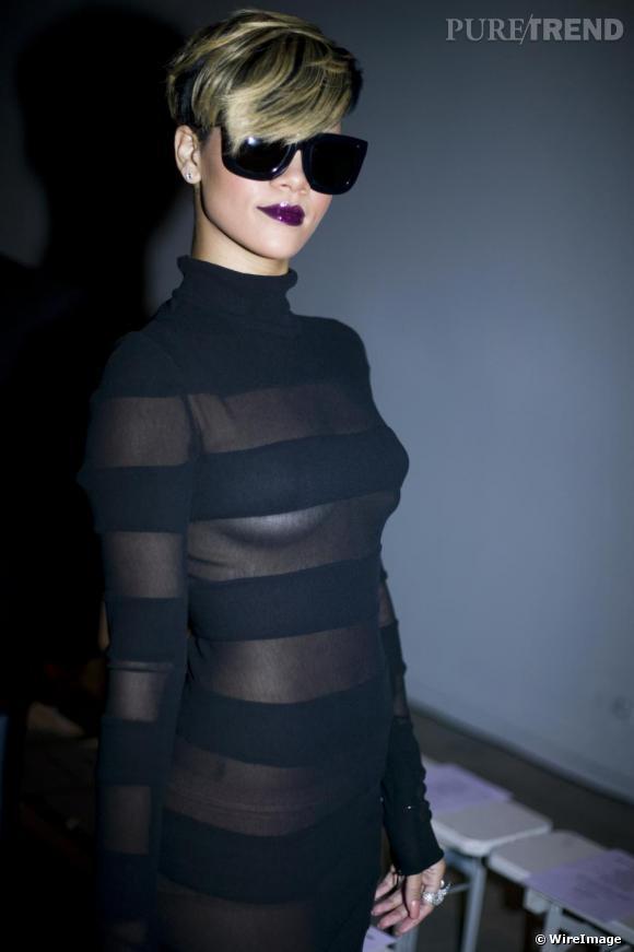 Robe noire voile transparent