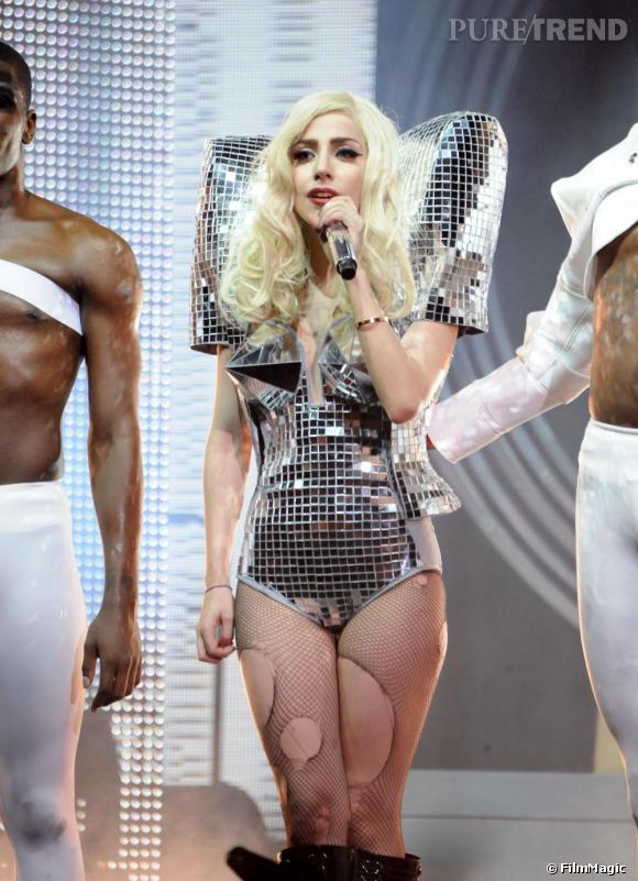 Lady Gaga lors d'un concert à Los Angeles