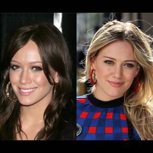 La jeune Hilary Duff peut varier du brun au blond sans problème. Une légère préférence tout de même pour le blond qui rafraîchit son regard.