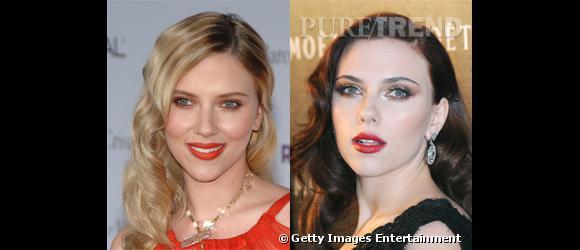 Le blond révèle sa beauté angélique, le brun sa beauté fatale... La divine Scarlett Johansson est un vrai caméléon, à qui tout va.