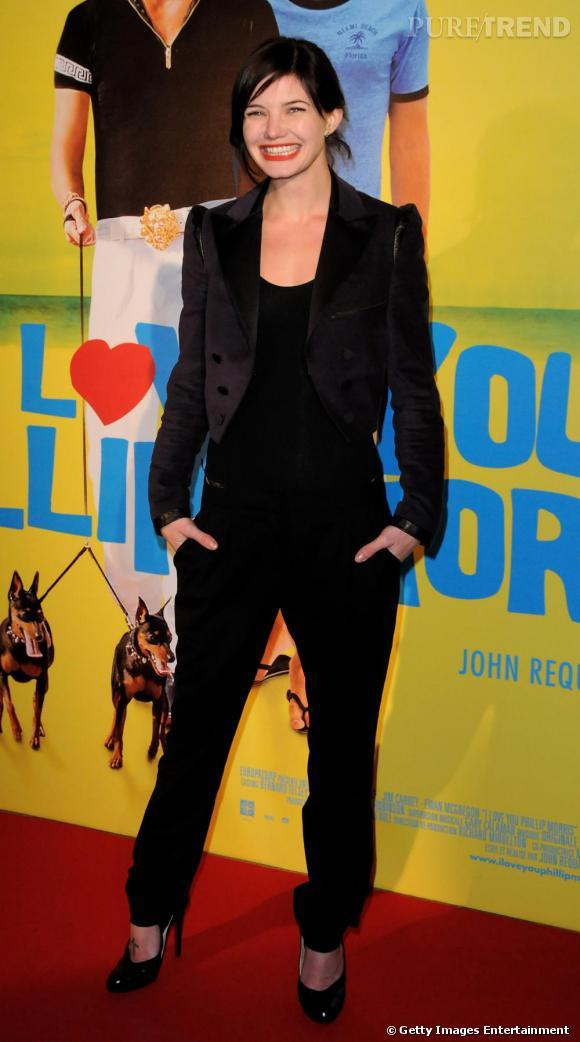 Delphine Chanéac à la première parisienne du film I Love You Philip Morris