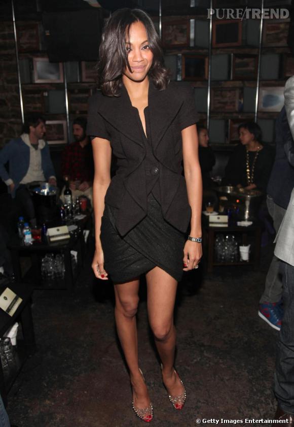 Zoe Saldana présentatrice du lancement du site My Fashion Database