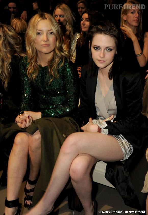 Kate Hudson et Kristen Stewart au défilé Burberry Prorsum
