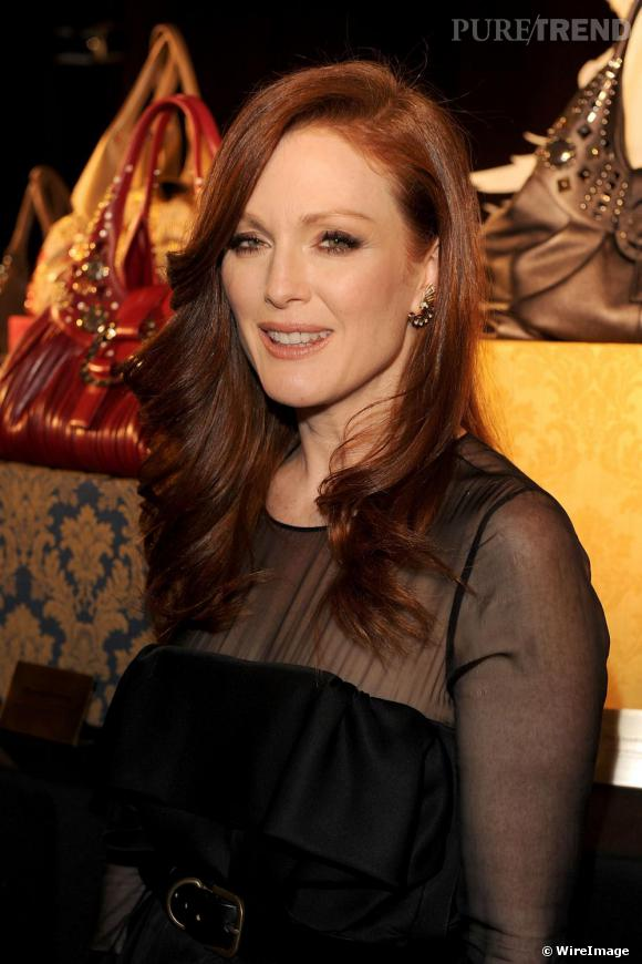 Julianne Moore à la soirée Bulgari pendant la Fashion Week de Milan