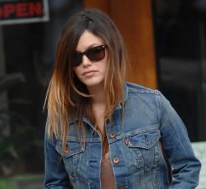 Rachel Bilson glamour en veste en jean... A shopper !