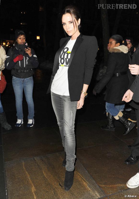 Style chic et décontractée à la fois : Victoria Beckham nous donne une nouvelle leçon de style.