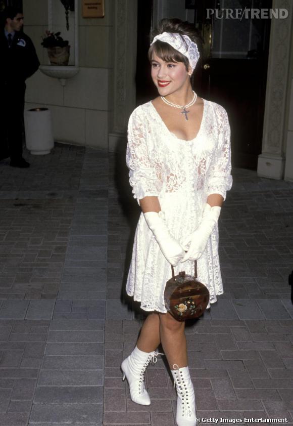 Au début des années 90, Alyssa se prenait pour Madonna