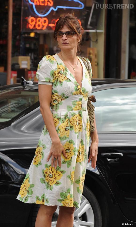 Helena Christensen dans les rues de New York