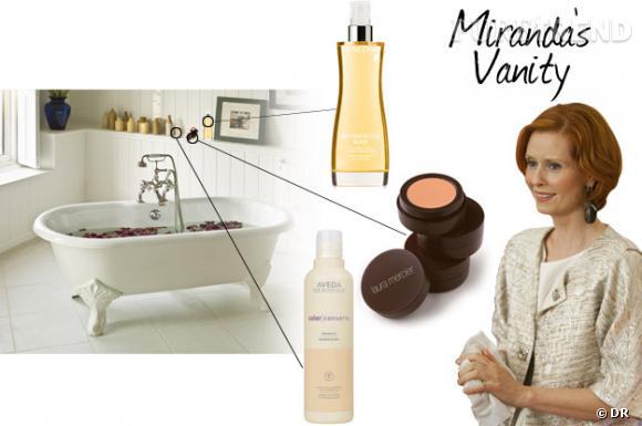 Dans le vanity de Miranda...