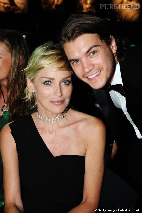 Sharon Stone, maîtresse de cérémonie d'un soir avec Emile Hirsch