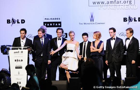 Diane Kruger fait son show entourée du casting du film Inglorious Basterds