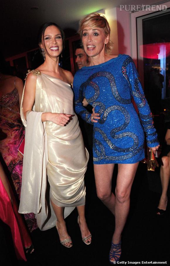 Georgina Chapman et Sharon Stone n'ont pas l'air de s'ennuyer !