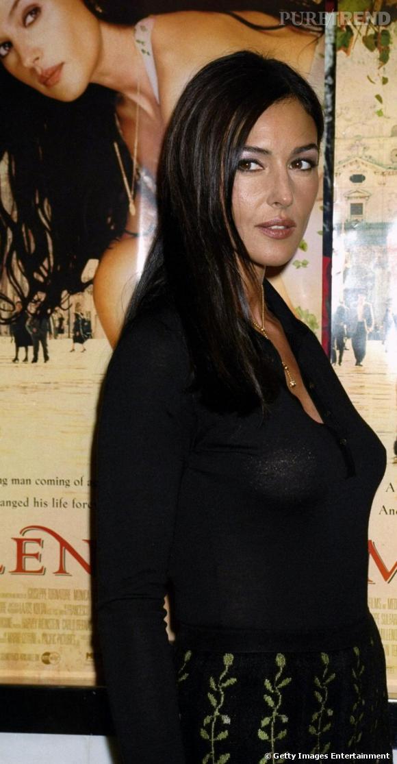 Monica Bellucci à la première du film Mulan aux Etats-Unis en l'an 2000