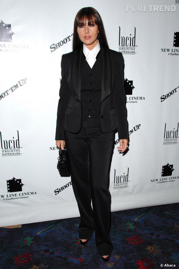 En 2007, Monica Bellucci rejoue la carte du masculin féminin à New York