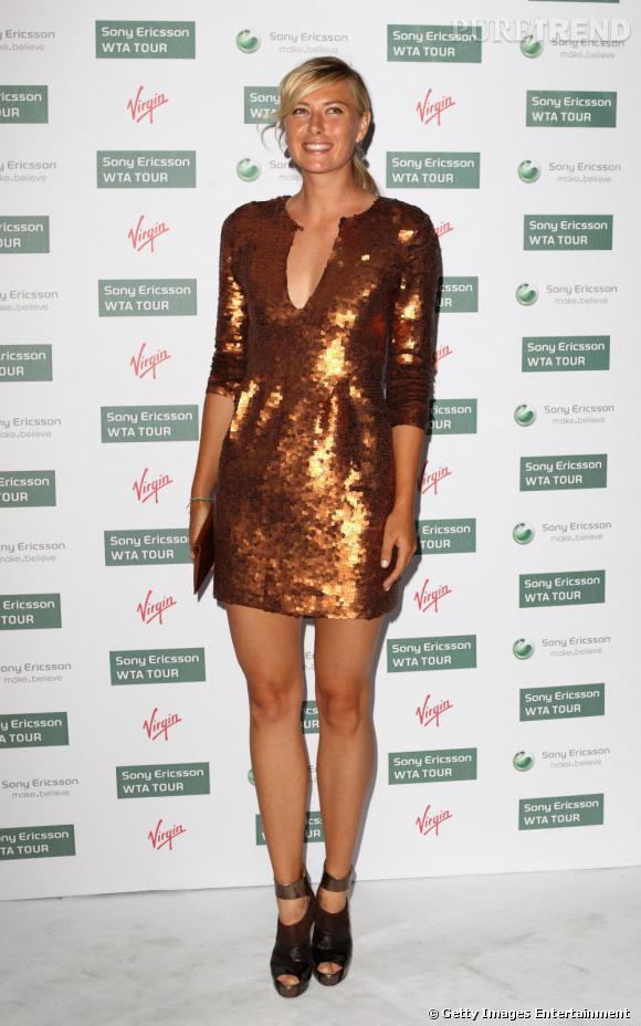 Maria Sharapova brille de mille feux