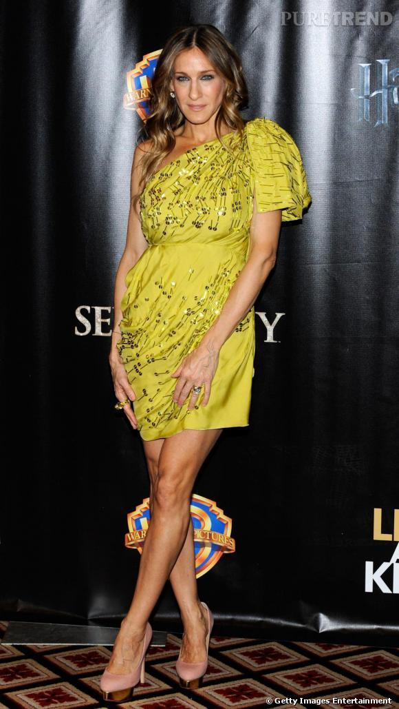 Sarah Jessica Parker, éternelle Carrie Bradshaw ne pouvait pas passer à coté d'une nouvelle paire de chaussures !