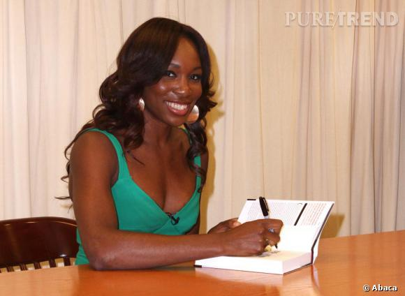Venus Williams dédicace son livre Come to win à New York