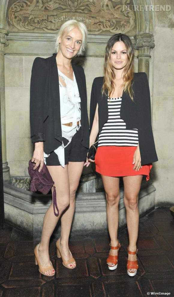 Rachel Bilson et Vanessa Bruno lors du dîner organisé à Los Angeles.