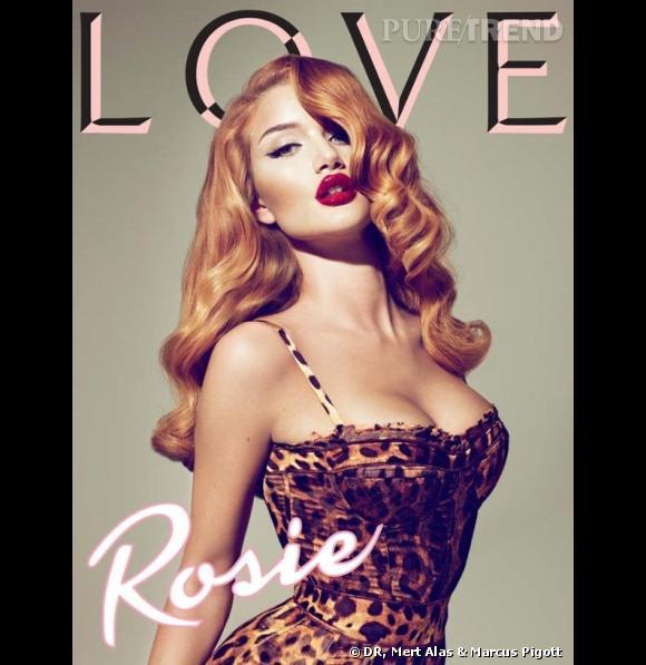 Rosie Hunthington-Whiteley en couverture de Love Magazine d'automne 2010