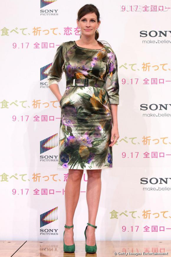 Julia Roberts à la conférence de presse de Mange Prie Aime à Tokyo.