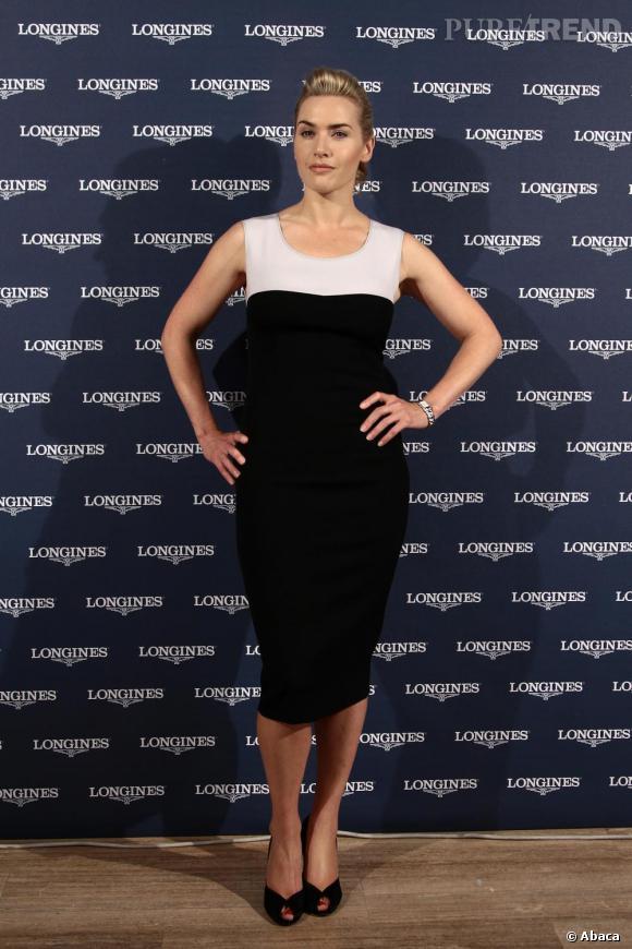Kate Winslet au photocall de Dolcevita, nouvelle montre de la marque Longines à Rome.