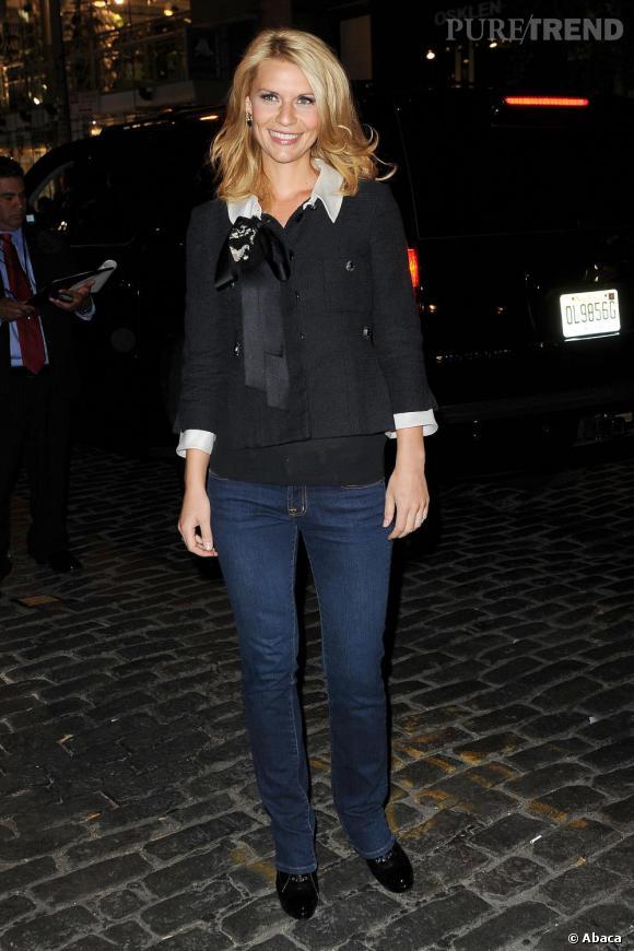 Claire Danes à la réouverture de la boutique Chanel à Soho, New York.