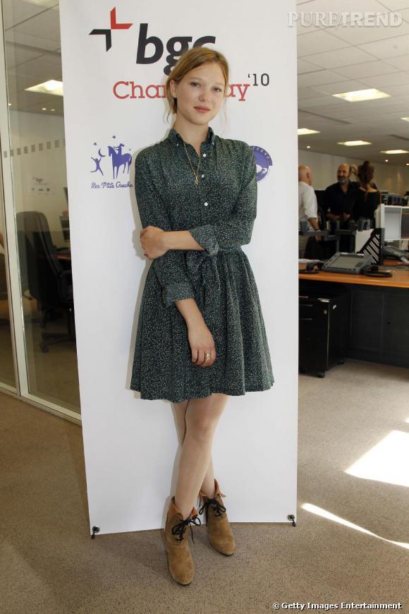 Léa Seydoux ose le look jeune fille en fleurs et s'assure un sans faute.