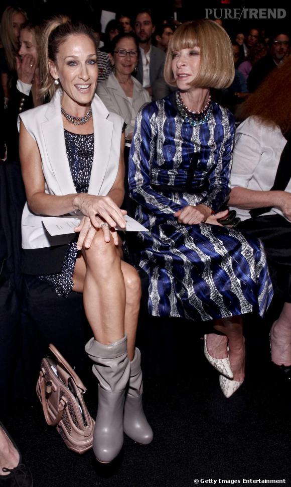 Sarah Jessica Parker et Anna Wintour chez Narciso Rodriguez.