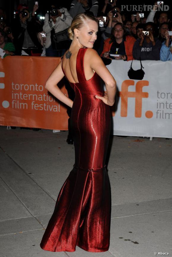 Malin Akerman à la projection de The Bang Bang Club au Festival international du film de Toronto.