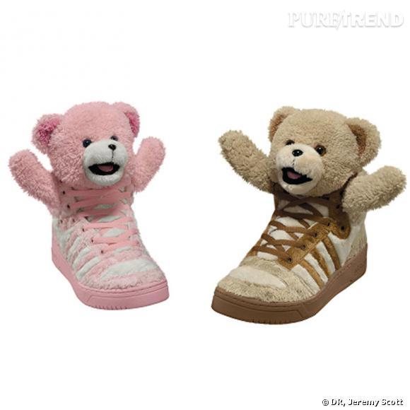 Les sneakers Teddy Bear de Jeremy Scott.