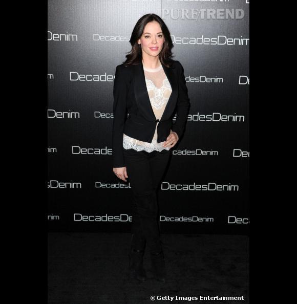 Rose McGowan à la soirée de lancement Decades Denim à Beverly Hills.