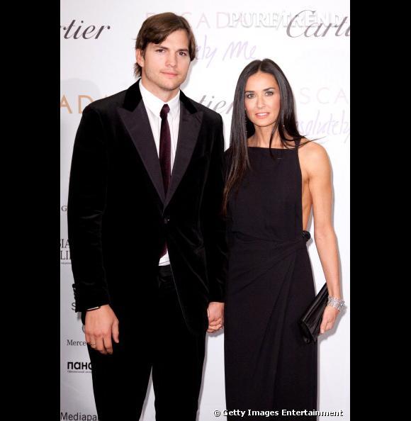 Demi Moore et Ashton Kutcher au gala Escada.