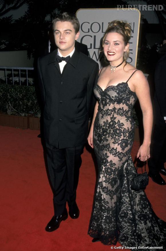 A 23 ans : Mèches blondes, make-up à la truelle et formes voluptueuses moulées dans de la dentelle noire, Kate Winslet affiche un sex-appeal premier degré.