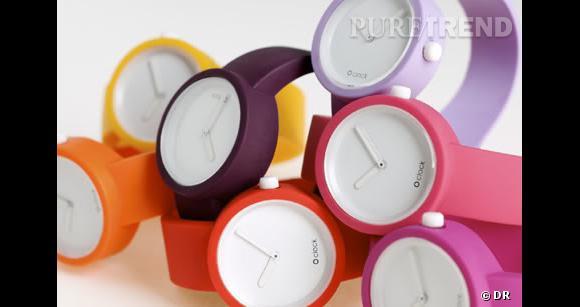 Montre O'Clock, 25€, bracelet, 8€, à la boutique Black Block du Palais de Tokyo.