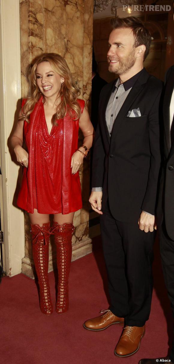 Kylie Minogue rencontre le prince Charles à Londres, jeudi.
