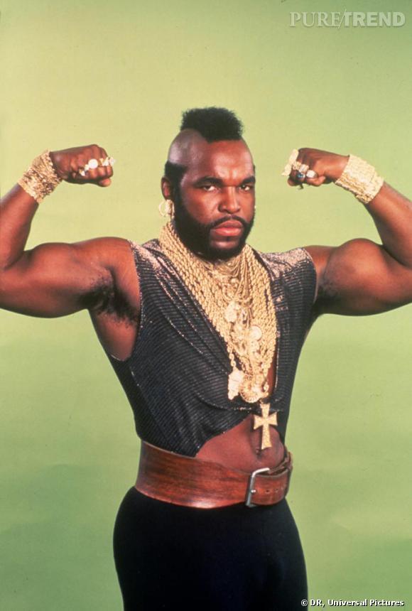 Roi du bling avant les P. Diddy et autres Kanye West, Mister T, le macho man version coquette.