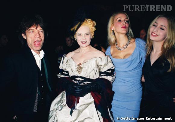 Mick Jagger, Vivienne Westwood, Jerry Hall et Elizabeth Jagger, quatuor de choc.