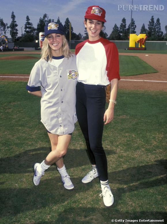 Tendance baseball pour Heather Locklear et Cindy Crawford.