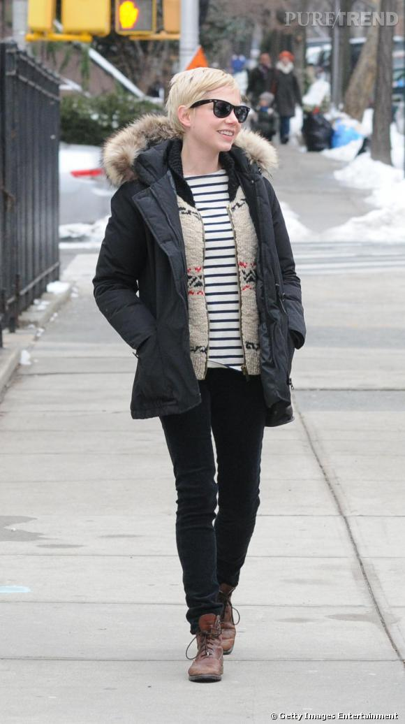 Michelle Williams se balade dans les rues de New-York.