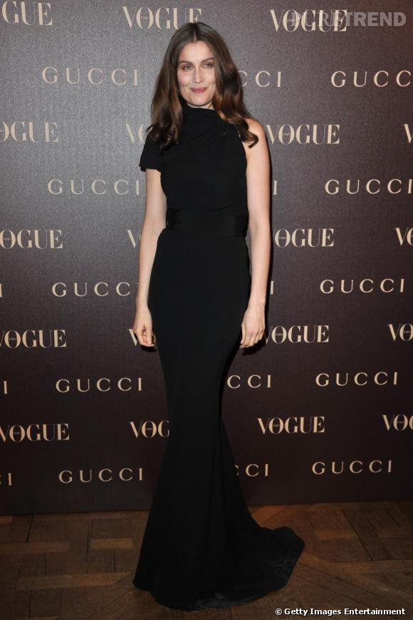 Laetitia Casta a des allures de sirène, à la soirée Gucci.