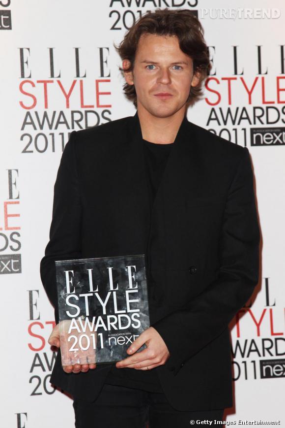 """Christopher Kane a reçu le prix du """"British Designer""""."""