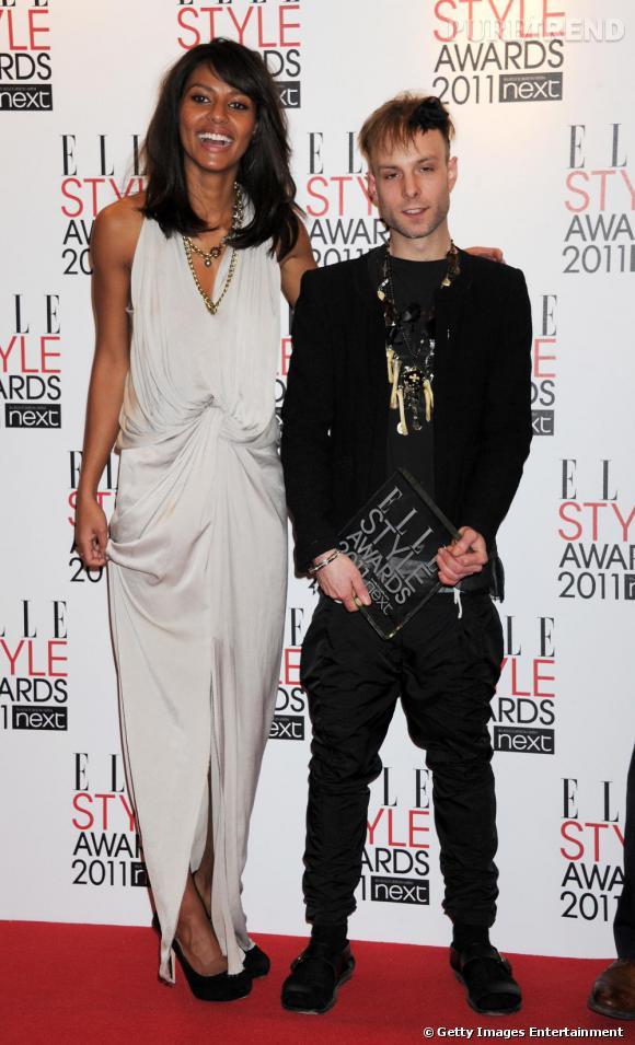"""Emanuela de Paula et Meadham Kirchoff  le gagnant du prix """"Next Young Designer""""."""