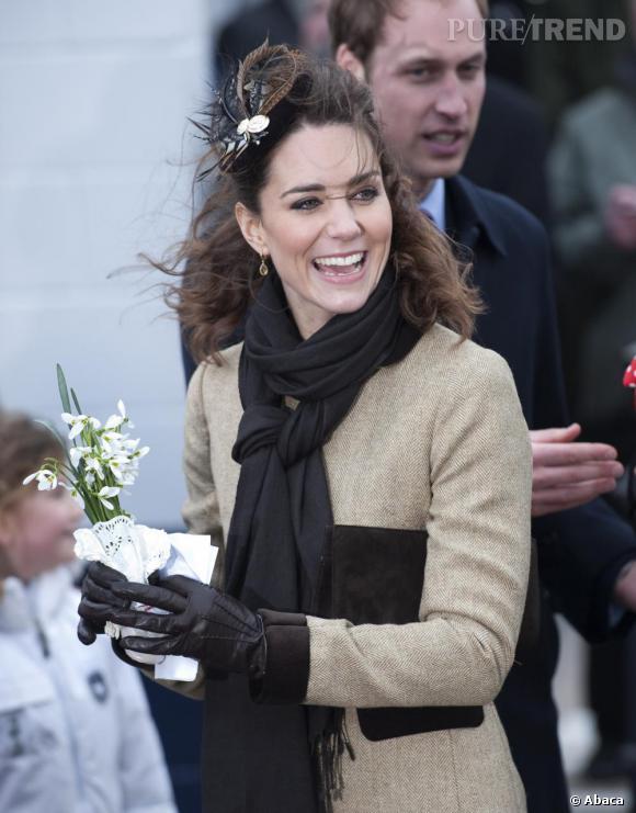 Kate Middleton au baptême d'un nouveau bateau de sauvetage de la RNLI, en Angleterre.