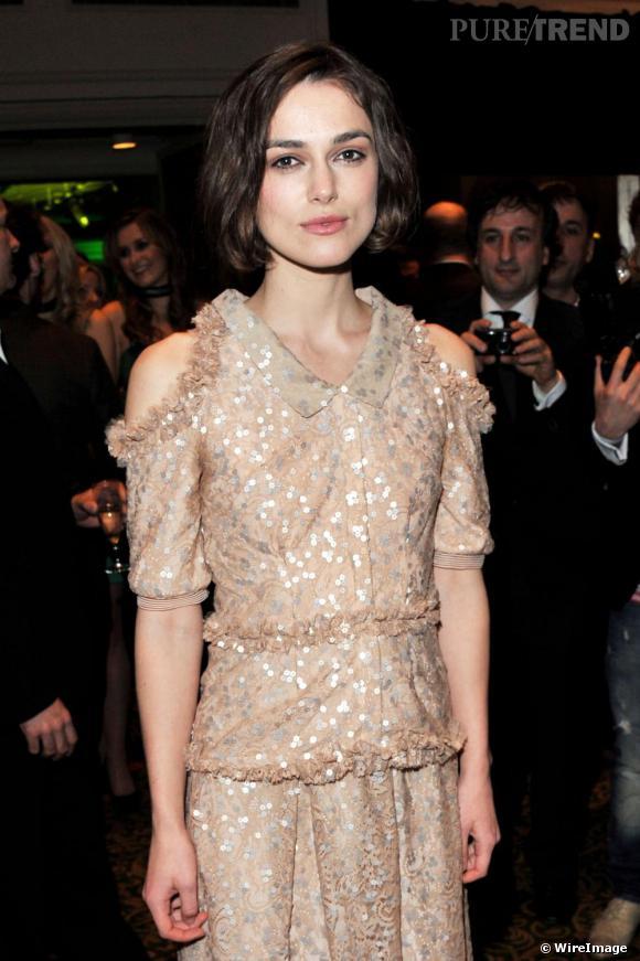 Keira Knigthley aux Jameson Empire Awards 2011, à Londres.