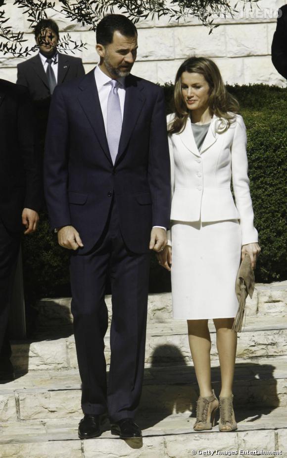 Letizia Ortiz lors de la visite d'un centre d'études rabbiniques, à Tel Aviv.