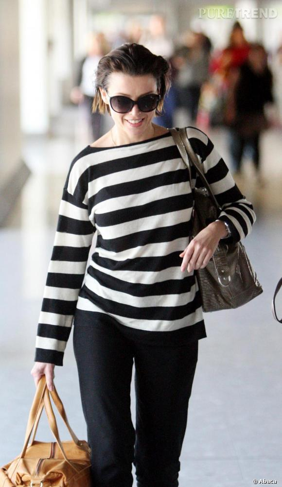 Dannii Minogue, incognito à l'aéroport d'Heathrow.