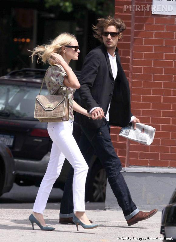 Un pantalon blanc comme Kate Bosworth pour flirter.