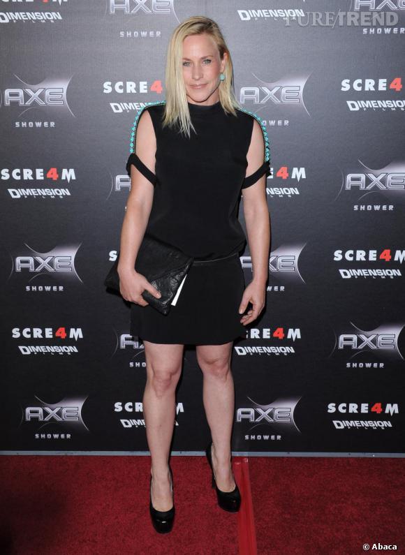 """Ni décalée ni chic, Patricia Arquette rate son apparition à la première de """"Scream 4""""."""
