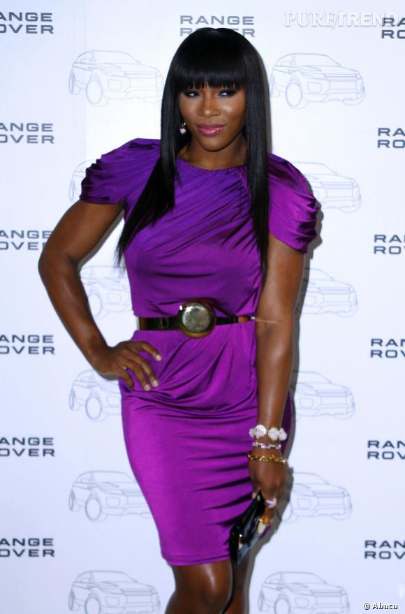 Serena Williams lors de la soirée Range Rover à New York.