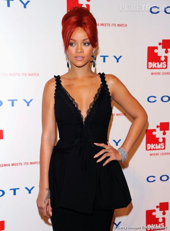 Rihanna lors du 5e gala annuel DKMS à New York.
